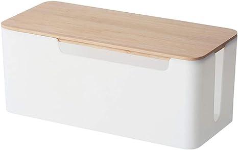 Sahgsa Kabelbox Kabelmanagement Box Zum Kabel Verstecken Bei Kabelsalat Für Maximale Sicherheit Im Haushalt Kabel Organizer Zum Verstauen Von Steckdosenleisten Küche Haushalt