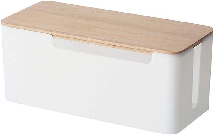Caja organizadora de cables RetroFun, caja de almacenamiento de cables de gestión de cables, organizador de cables, cubierta para escritorio, hogar, oficina, cocina: Amazon.es: Hogar