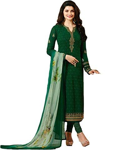 - Ready Made Designer Indian Wear Straight Salwar Kameez Party Wear Timeless (Green, MEDIUM-40)