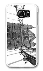 Galaxy S6 Case, S6 Case,Tower Bridge Shock Absorption Bumper Case Protective Slim Fit Hard PC Cover for Samsung Galaxy S6 White