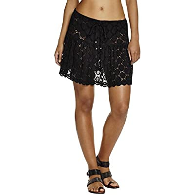 J Valdi Womens Pointelle Pattern A-Line Skirt