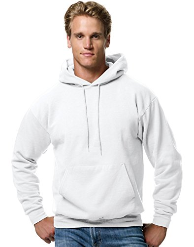 White Clothing Hood (Hanes Men's Pullover EcoSmart Fleece Hooded Sweatshirt, White, 2XL)