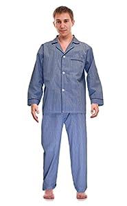 RK Classical Sleepwear Men's Broadcloth Woven Pajama Set,