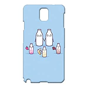 Food Cartoon Samsung Galaxy Note 3 N9005 Case,Creative Lovely Milk Printed Pattern 3D Hard Durable Phone Cover for Samsung Galaxy Note 3 N9005