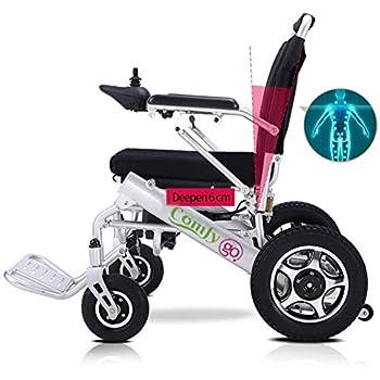 Amazon.com: Eléctrico Silla de ruedas con mando a distancia ...