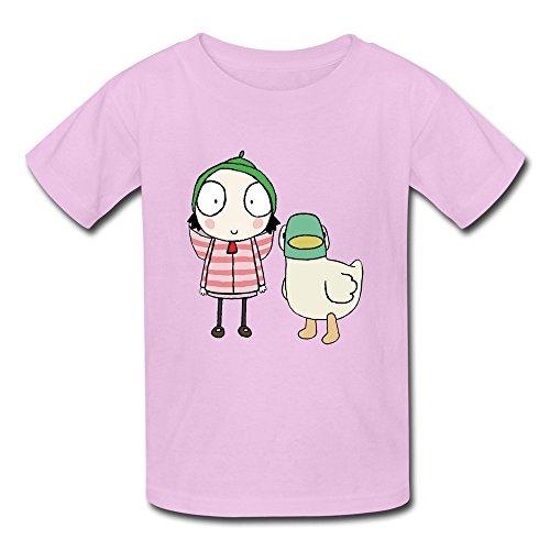 Kazzar Kid's Sarah And Duck Show Art Round Collar T Shirt M