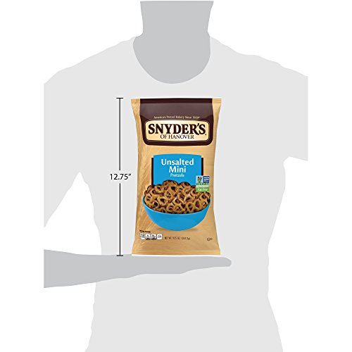 Snyder's of Hanover Mini Pretzels, Unsalted, 9.25 Ounce Bags (Pack of 12) by Snyder's of Hanover (Image #5)