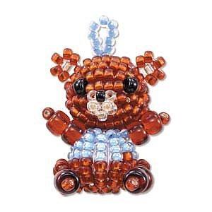 Create Your Own Miyuki Mascot - Bead Charm Kit -Teddy - Bear Bead Teddy