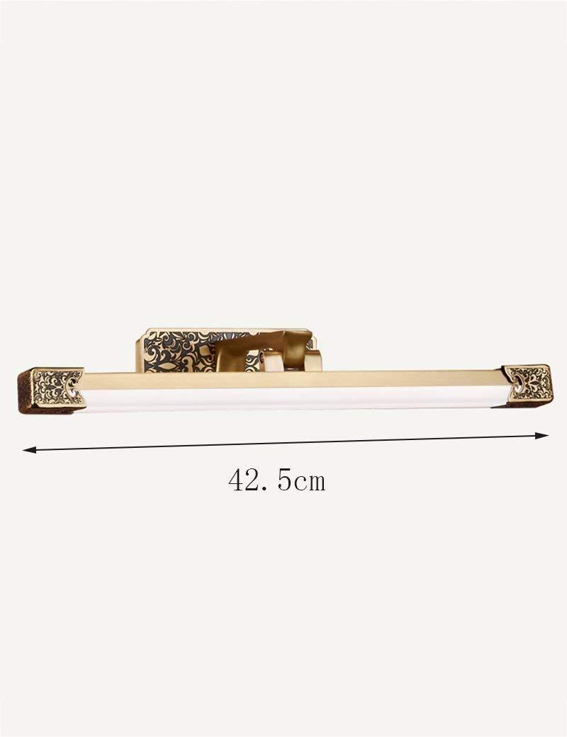 Chuiqingwang バスミラーランプ - アメリカンスタイルすべて銅led防水ミラーフロントライト浴室クリエイティブシンプルミラーフロントライト、オプションの長さ - メイクアップミラーヘッドライト、 (Color : 42.5cm)  42.5cm B07SD32SM1
