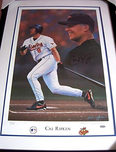 Cal Ripken signed autographed Orioles lithograph matted & framed #76/800 - Steiner Sports Certified - Autographed MLB Art