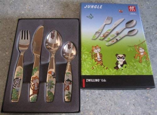 Zwilling 07135-210-0 Coffret de 4 Couverts Jungle Couleur pour Enfants