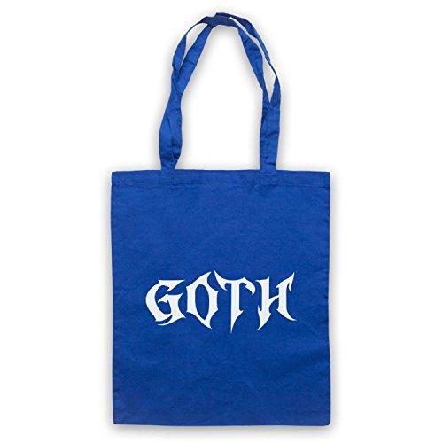 Goth Slogan Style Bolso Azur Real