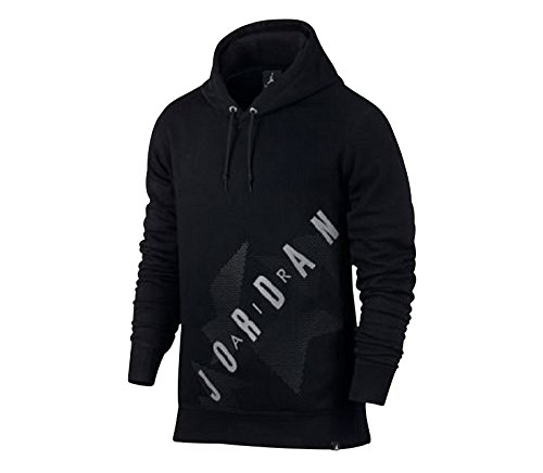 Nike Mens Air Jordan Retro 6 Pull Over Hoody Black/Anthracite 833922-010 Size Small by NIKE