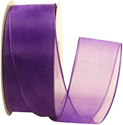 $4//yd Light Purple Fringe With Navy Ribbon