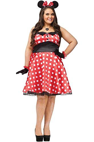 (Fun World Women's Plsz Retro Miss Mouse Cstm, multi color Plus)