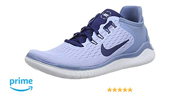 quality design 21839 f5412 Amazon.com Nike Womens Free Run 2018 Running Shoes (7.5 B US,  AluminumBlue VoidWork BlueWhite) Sports  Outdoors