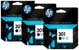 Hewlett Packard No 301 Black Triple Pack Ch561ee X3 3x Tintenpatronen Original Hp Schwarz Bürobedarf Schreibwaren
