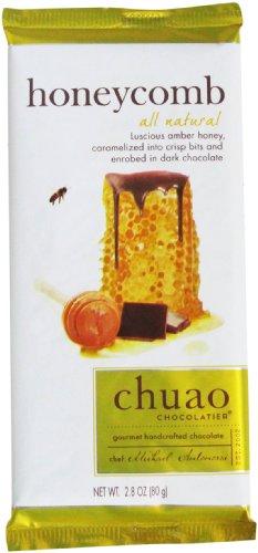 Chuao Chocolatier All Natural Dark Chocolate Bar, Honeycomb, 2.8 Ounce
