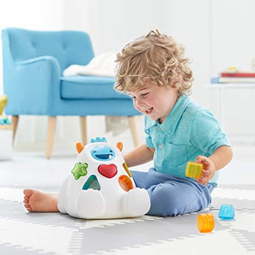 41II1s0OP8L - Skip Hop Yeti Shape Sorter Explore & More 3-Stage Spinning & Sorting Developmental Learning Toddler Toy