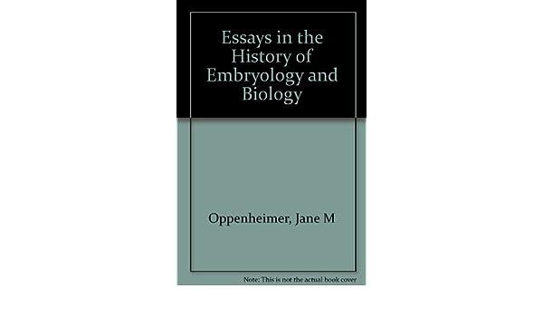 essays history embryology biology