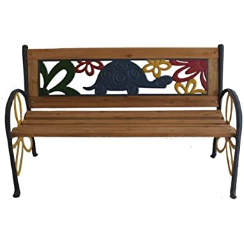 Tortoise Junior Park Bench    Cast Iron Kids Park Bench With Resin Back For  Yard