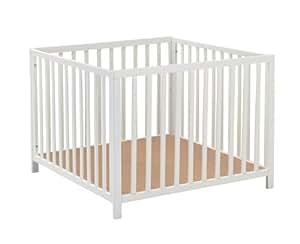 Baby Dan, Parque de madera Felix color blanco
