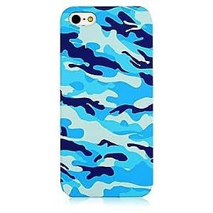 ZXM-Camuflaje azul Patrón de nuevo caso para el iPhone 5/5S