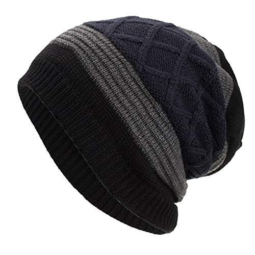 - NRUTUP Warm Oversized Chunky Soft Oversized Cable Knit Slouchy Beanie, Deals!(Black,Free Size)