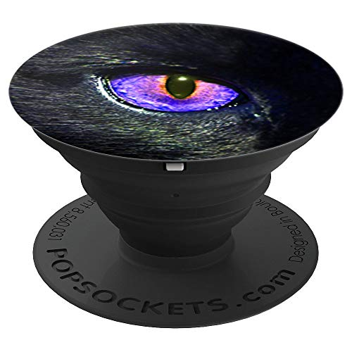 Purple Dragon or Cat Eye PopSocket - PopSockets Grip and Stand for Phones and Tablets ()
