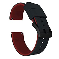 Image of the product 20mm Black/Crimson Red   that is listed on the catalogue brand of Barton Watch Bands.