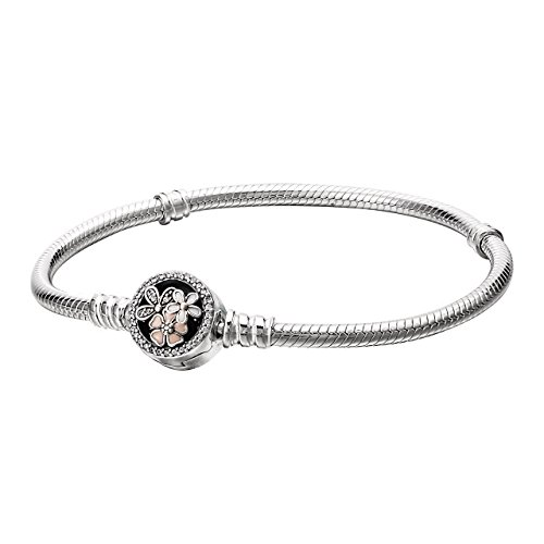 Pandora Womens Moments Silver Bracelet With Poetic Blooms Clasp   18 Cm   590744Cz 18