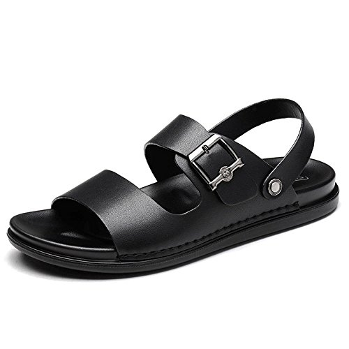 Sandalias Respirables De Verano Open Toe Beach Shoes Sandalias Ocasionales Impermeables Black