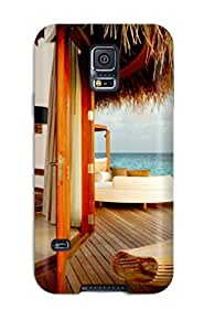 Defender Case With Nice Appearance (beach Lux Maldive) For Galaxy S5