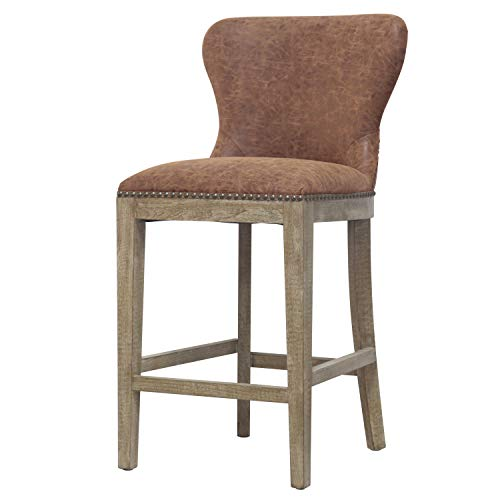 New Pacific Direct 3900020-NCE Dorsey Counter Stool Nubuck Chocolate