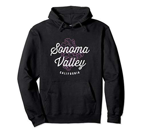 Sonoma Valley California Wine Country Vintage Hoodie