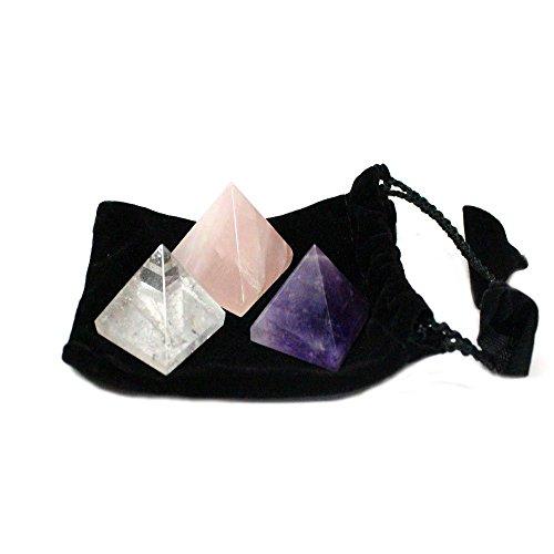 3-chakra-pyramids-black-velvet-bag-rose-quartz-quartz-amethyst-rock-paradise-coa