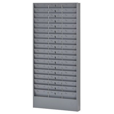 Buddy Products Adjustable Time Card Rack, Steel, 17 to 51 Pockets, 6.25 Inch Pocket Height, 4.125 to 12.75 Inch Pocket Width, Gray, (0803-1)