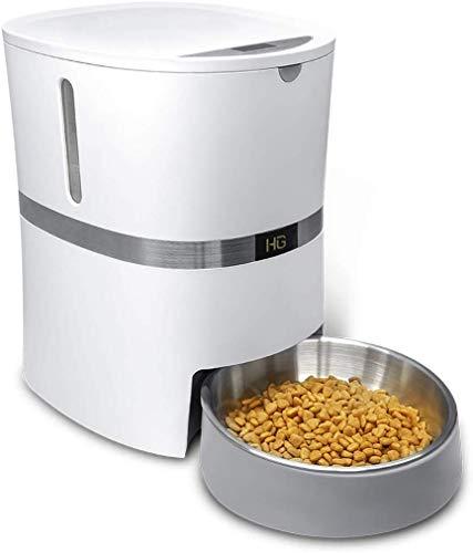 Comedero Automático HoneyGuaridan A36 para Gatos,Perros Dispensador de Comida con Recipiente de Acero Inoxidable…