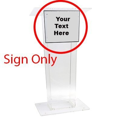 Source One Clear Acrylic Modern Lectern Podium 48 inches Tall (Custom Sign) by SOURCEONE.ORG