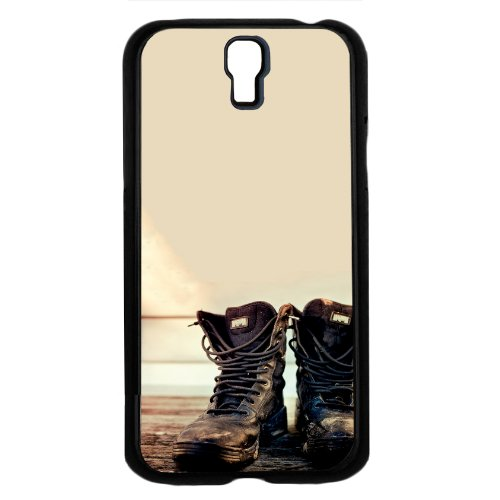 Black Combat Boots on Tan Background Hard Snap on Phone Case (Galaxy s4 IV)
