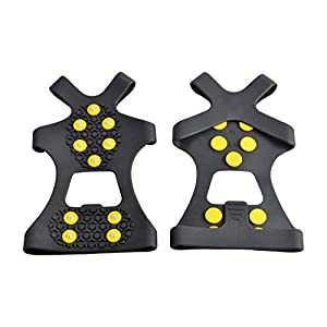 WAYPOR™ Ice Grips, Traction Cleats, Ice Cleat, Easy Slip On, Outdoor Durable, 10 Steel Studs, Stretchable, Prevent Slipping From Ice/Snow (medium)
