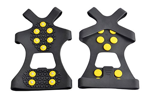 WAYPOR™ Ice Grips, Traction Cleats, Ice Cleat, Easy Slip On, Outdoor Durable, 10 Steel Studs, Stretchable, Prevent Slipping From Ice/Snow (large)