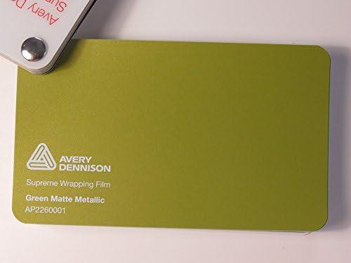 (24,82€/m2) Avery Supreme Wrapping Film Serie Grün Matt Metallic gegossene Autofolie 2000 x 152 cm Zuschnitt