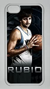 TYH - Ricky Rubio Minnesota Timberwolves #9 NBA Sports Custom PC Transparent Case for ipod Touch4 ending phone case