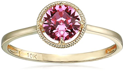 Collection Gold Jewelry (10k Gold Swarovski Crystal October Birthstone Ring, Size 8)