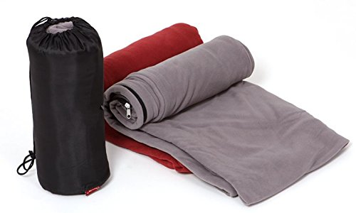 Mitef Soft Microfiber Fleece Zippered Sleeping Bag Liner,6x2.5ft,Smoky (Fleece Camp Sleeping Bag)