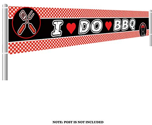 - Large I Do BBQ Banner, Bridal Shower Banner, Engagement Party Decorations, Wedding Shower, Couples Shower, Bachelorette Party Banner (9.8 x 1.5 feet)
