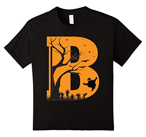 Kids Letter B Halloween Costume Group Shirts Tees 6 Black - Letter W Halloween Costumes