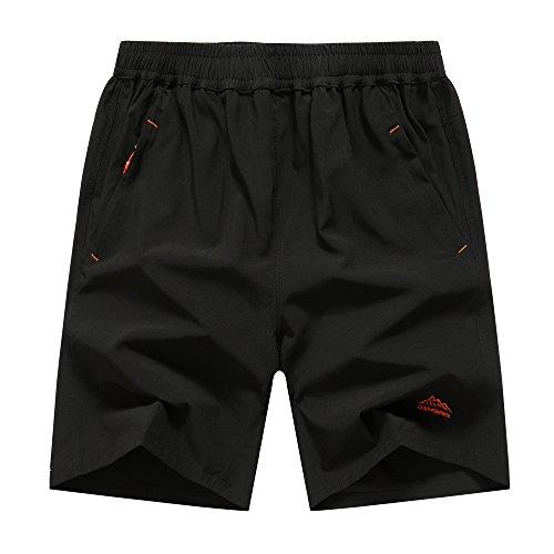 Lixada Sport Shorts Männer Laufen FitnessSchnell Trocknend Hosen Reine Farbe Lose Atmungsaktive Shorts mit Taschen 4XL-1