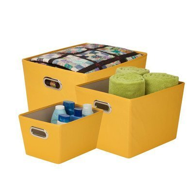 honey-can-do-sftz03590-decorative-storage-bin-tote-kit-with-chrome-handles-yellow-3-pack